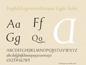 EnglishEngraversRoman Light