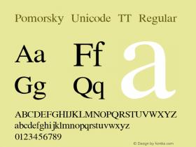 Pomorsky Unicode TT