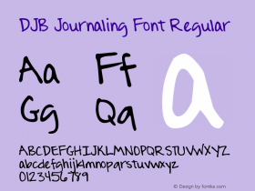 DJB Journaling Font
