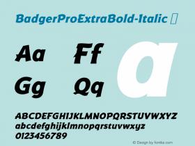 BadgerProExtraBold-Italic