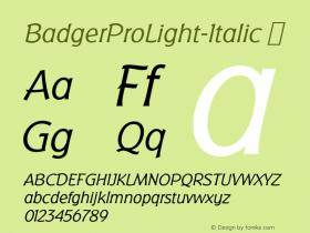 BadgerProLight-Italic