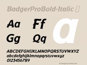 BadgerProBold-Italic