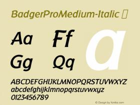 BadgerProMedium-Italic