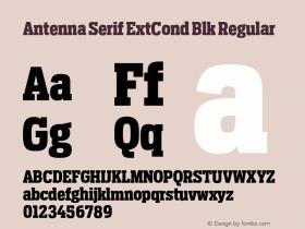 Antenna Serif ExtCond Blk