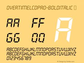 OvertimeLCDPro-BoldItalic