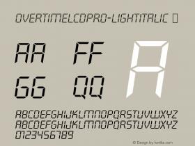 OvertimeLCDPro-LightItalic