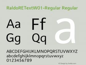 RaldoREText-Regular