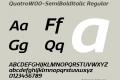 Quatro-SemiBoldItalic