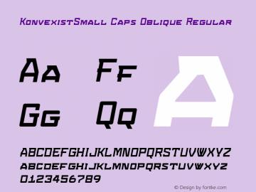 KonvexistSmall Caps Oblique