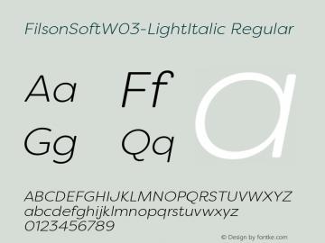 FilsonSoft-LightItalic