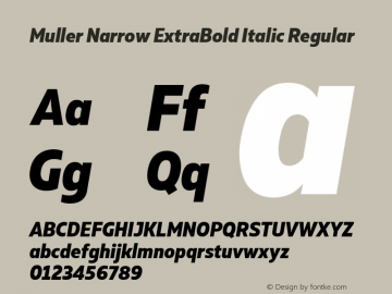 Muller Narrow ExtraBold Italic