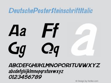 DeutschePosterSteinschriftItalic