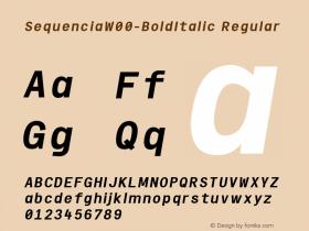 Sequencia-BoldItalic