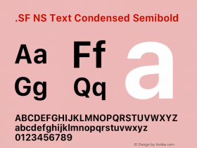 .SF NS Text Condensed