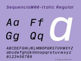 Sequencia-Italic