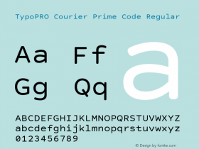 TypoPRO Courier Prime Code