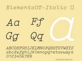 ElementaOT-Italic