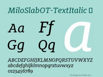 MiloSlabOT-TextItalic