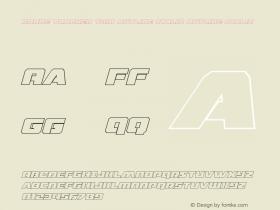 Drone Tracker Thin Outline Italic
