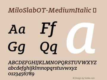 MiloSlabOT-MediumItalic