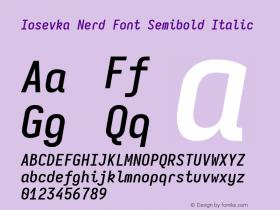 Iosevka Nerd Font