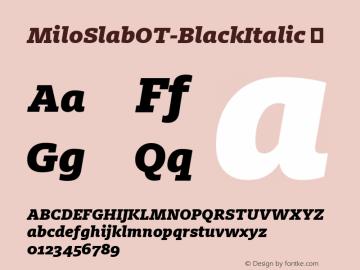 MiloSlabOT-BlackItalic
