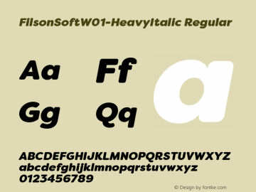 FilsonSoft-HeavyItalic