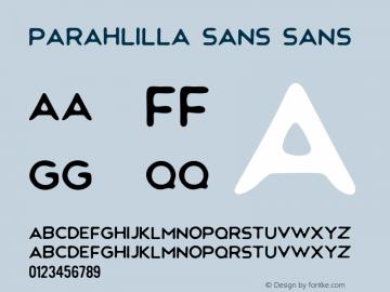 Parahlilla Sans