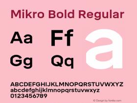 Mikro Bold