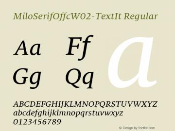 MiloSerifOffc-TextIt