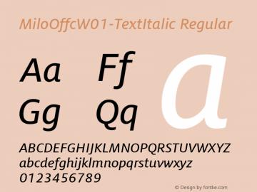 MiloOffc-TextItalic