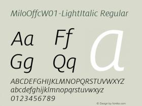 MiloOffc-LightItalic