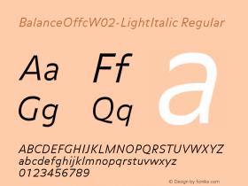 BalanceOffc-LightItalic