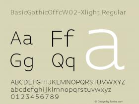 BasicGothicOffc-Xlight