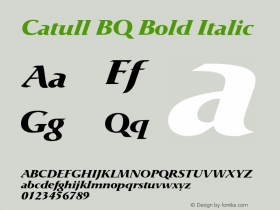 Catull BQ Bold