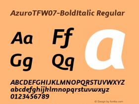 AzuroTF-BoldItalic