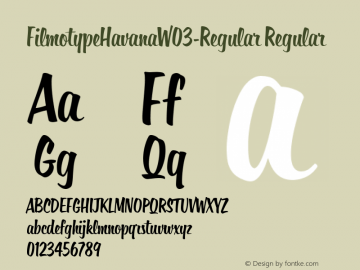 FilmotypeHavana-Regular