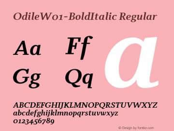 Odile-BoldItalic