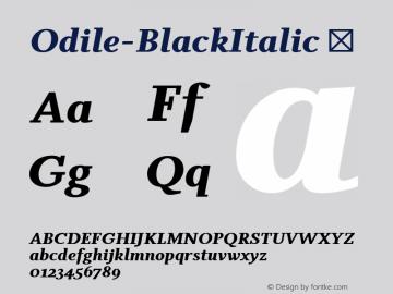 Odile-BlackItalic