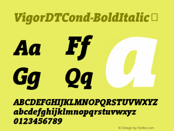 VigorDTCond-BoldItalic