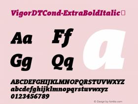 VigorDTCond-ExtraBoldItalic