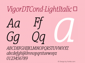 VigorDTCond-LightItalic