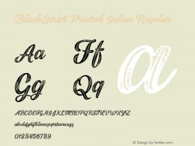 BlackScript Printed Inline