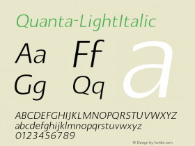 Quanta-LightItalic