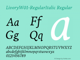 Livory-RegularItalic