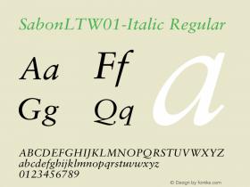SabonLT-Italic
