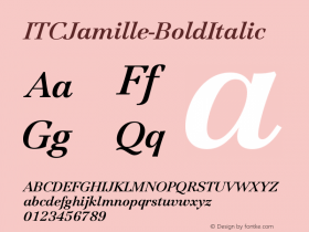 ITCJamille-BoldItalic