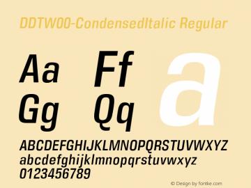 DDT-CondensedItalic