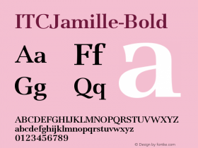 ITCJamille-Bold