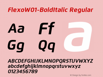 Flexo-BoldItalic